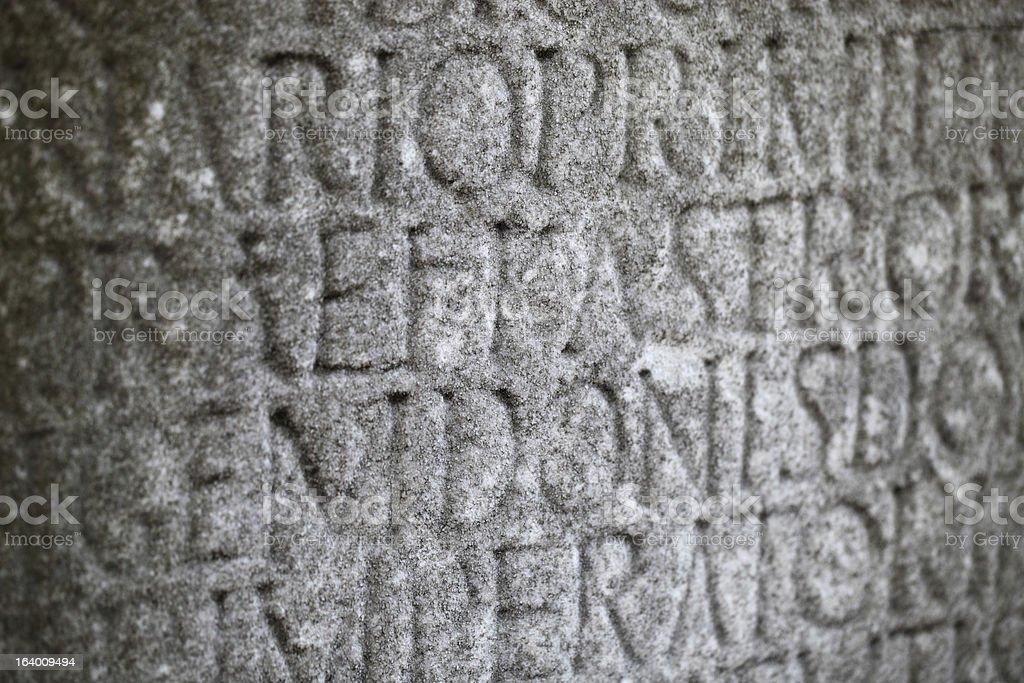 Inscription royalty-free stock photo