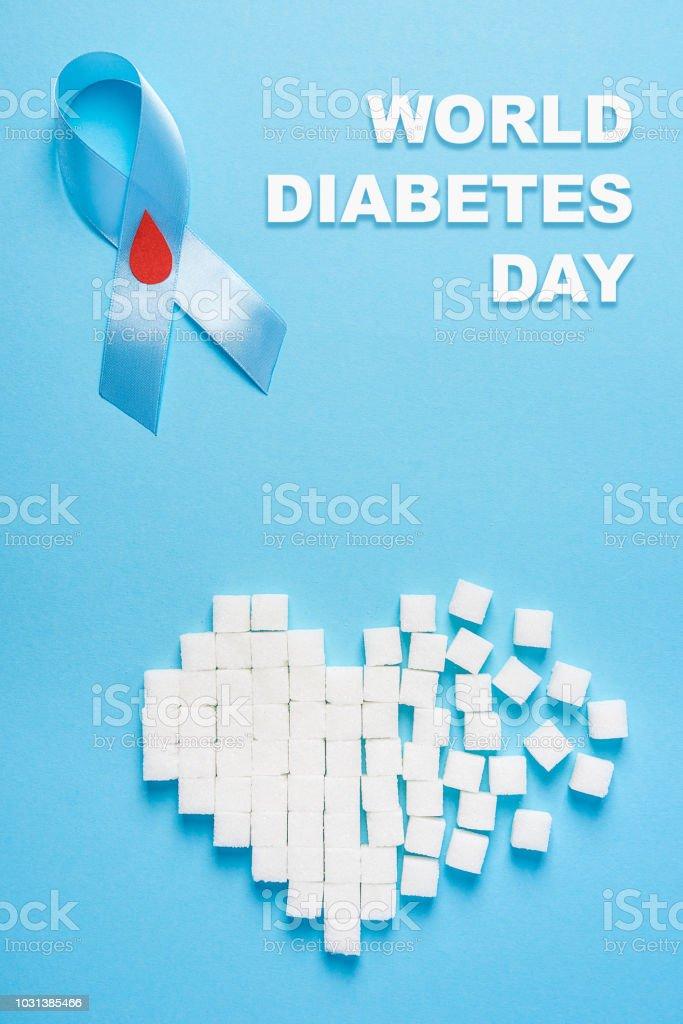 cinta de diabetes con imagen de gota de sangre