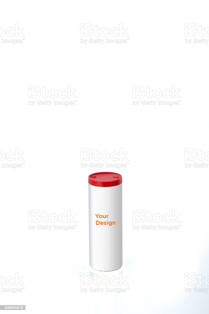 Insect Killer Powder Packaging Mockup on white background stock photo