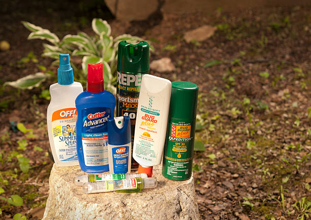 Insect Repellent Lotions and Bug Sprays stock photo