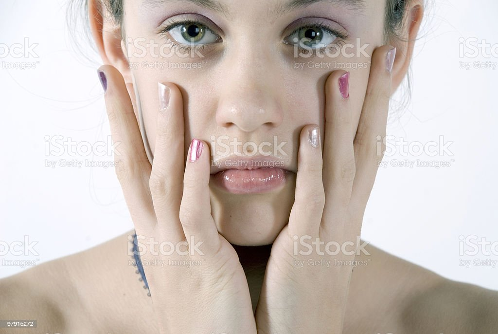 Insecure royalty-free stock photo