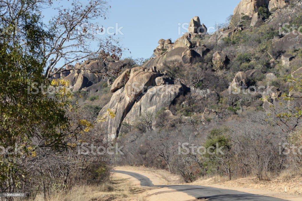 Inselberg kopje or koppie Matopos Matobo National Park Zimbabwe stock photo