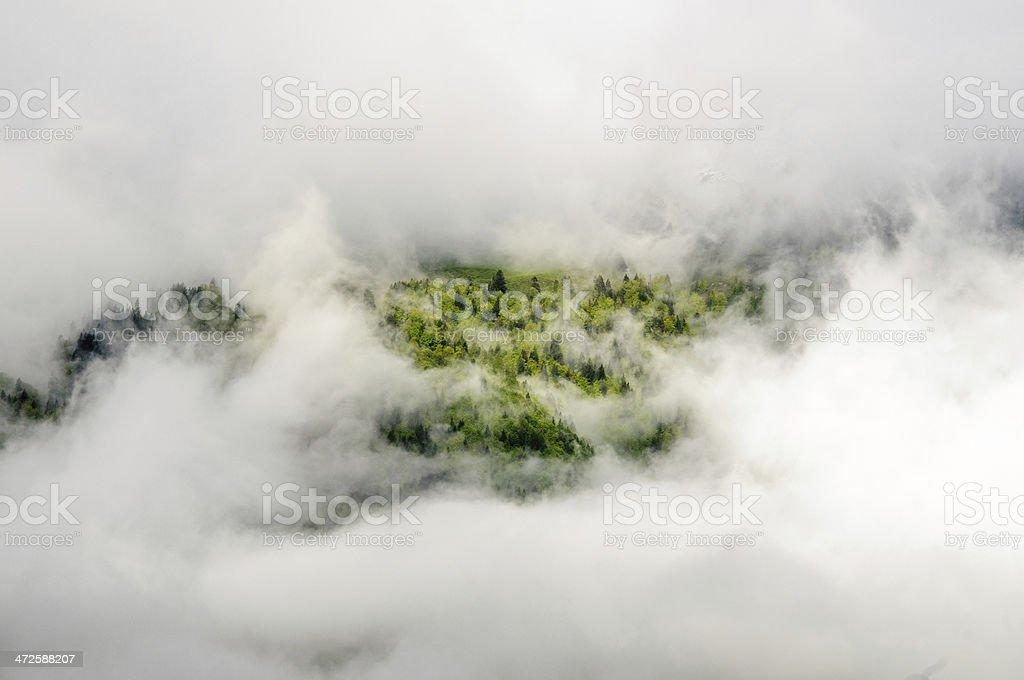 Inseln in den Wolken stock photo
