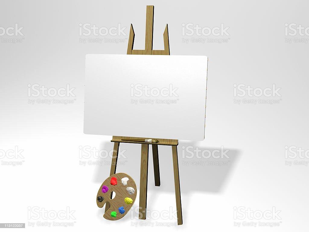 Insert Painting  Landscape royalty-free stock photo