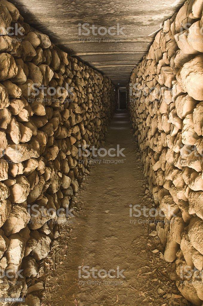 Inside a bunker (Bomb shelter) stock photo