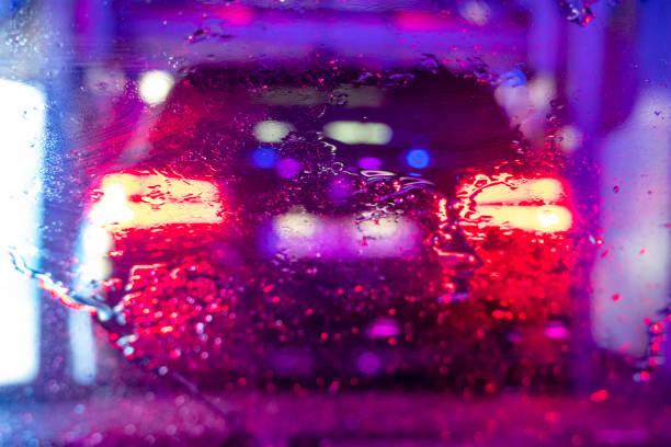 inside a carwash stock photo