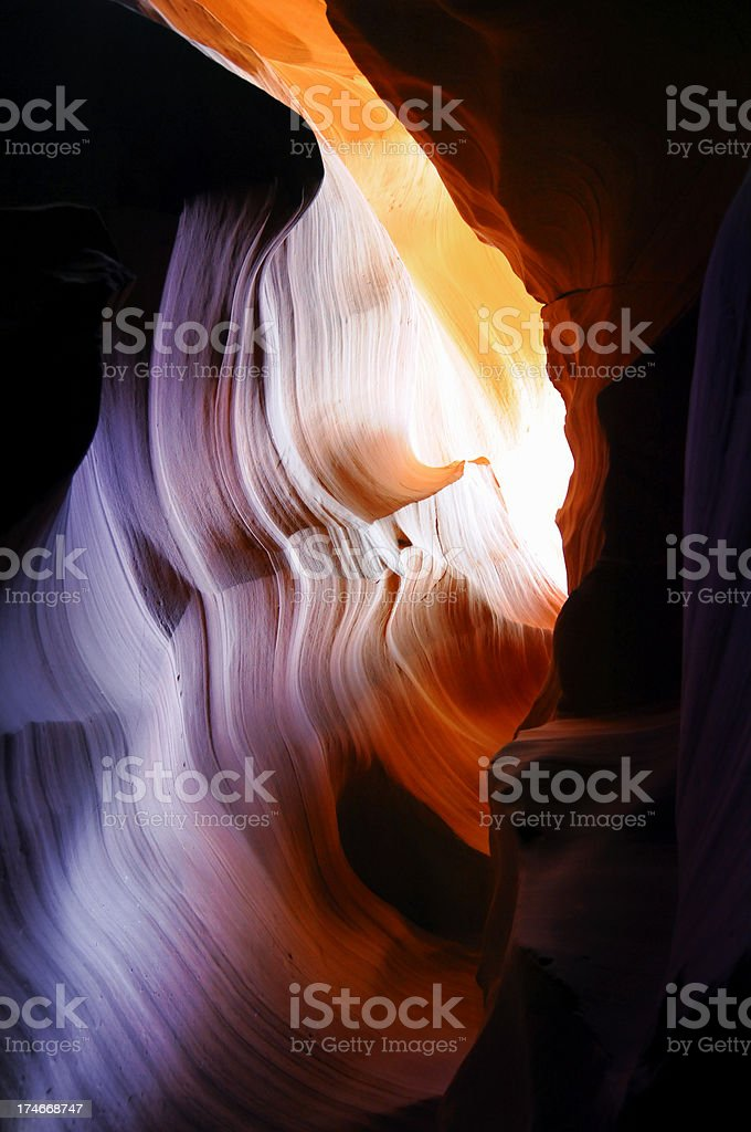 Inside a cave stock photo