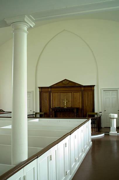Inside a church stock photo