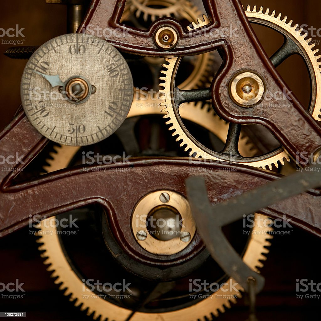 Inside a clock royalty-free stock photo