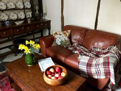 Inside a cozy English cottage