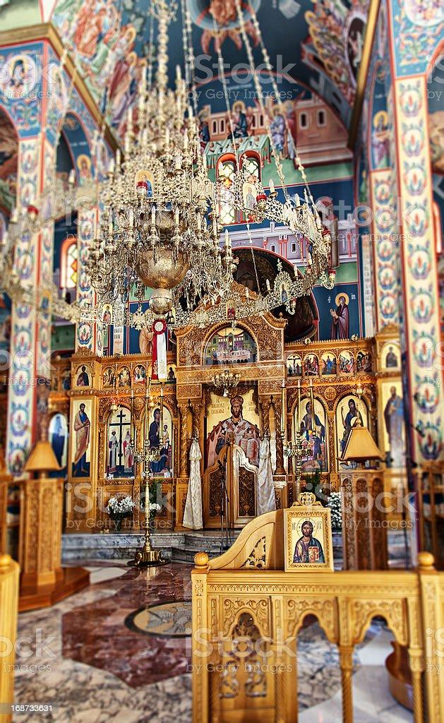 Inside a cretan orthodox church royalty-free stock photo