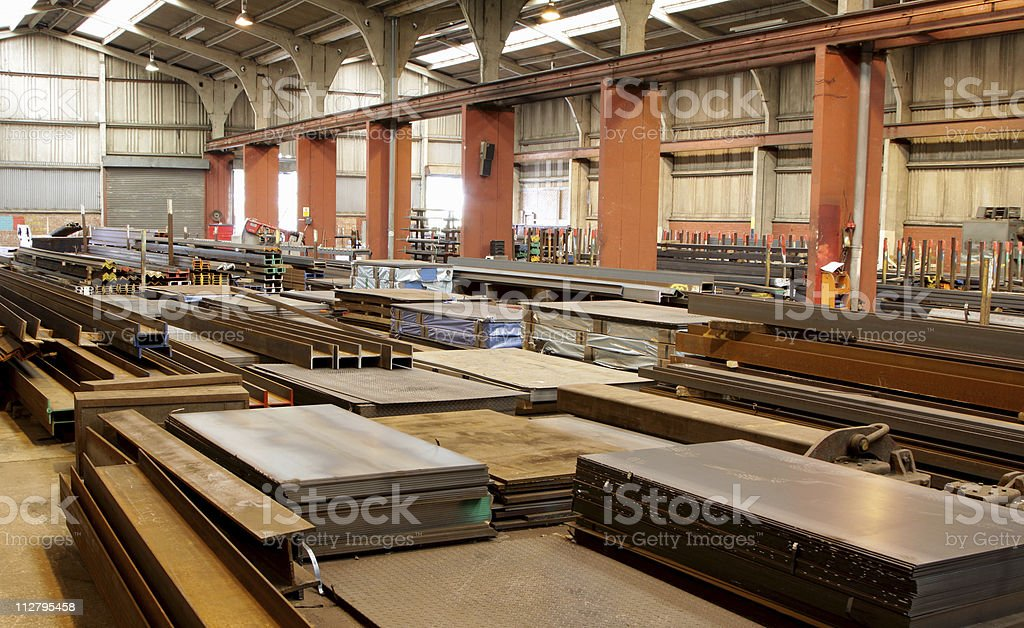 inside a distribution warehouse royalty-free stock photo