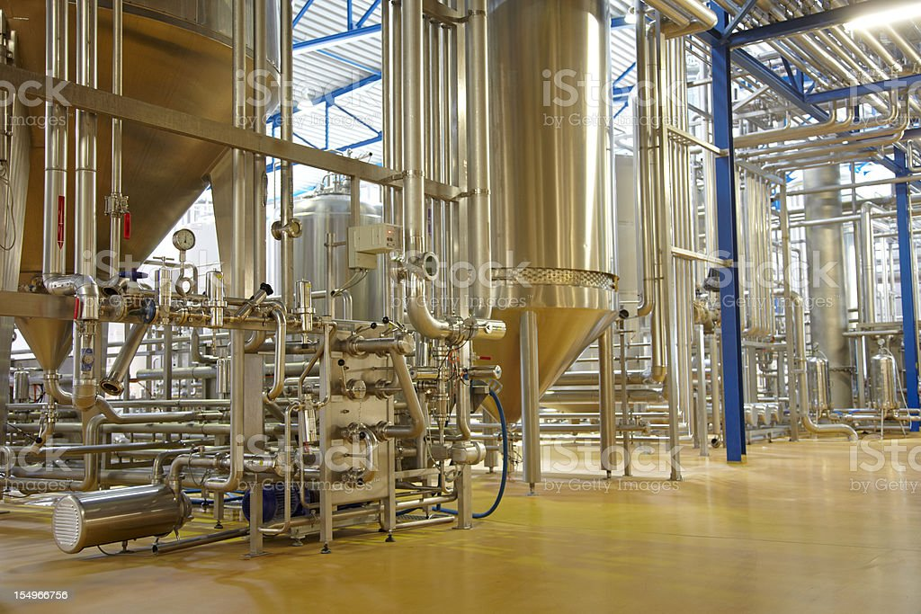 Inside a german brewery royalty-free stock photo