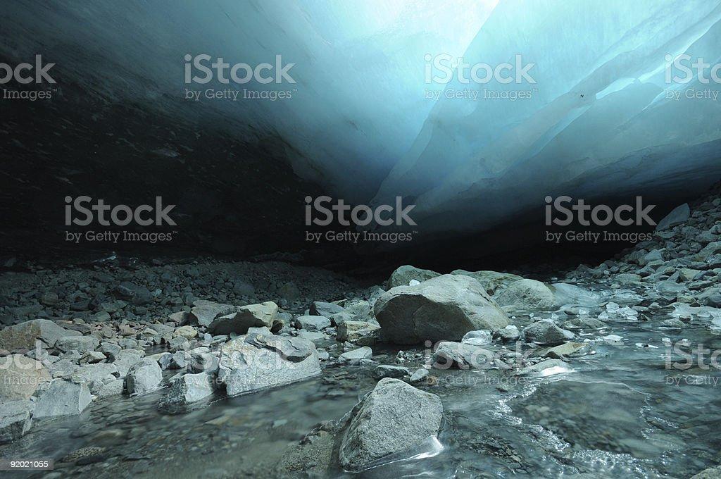 Inside a glacier royalty-free stock photo