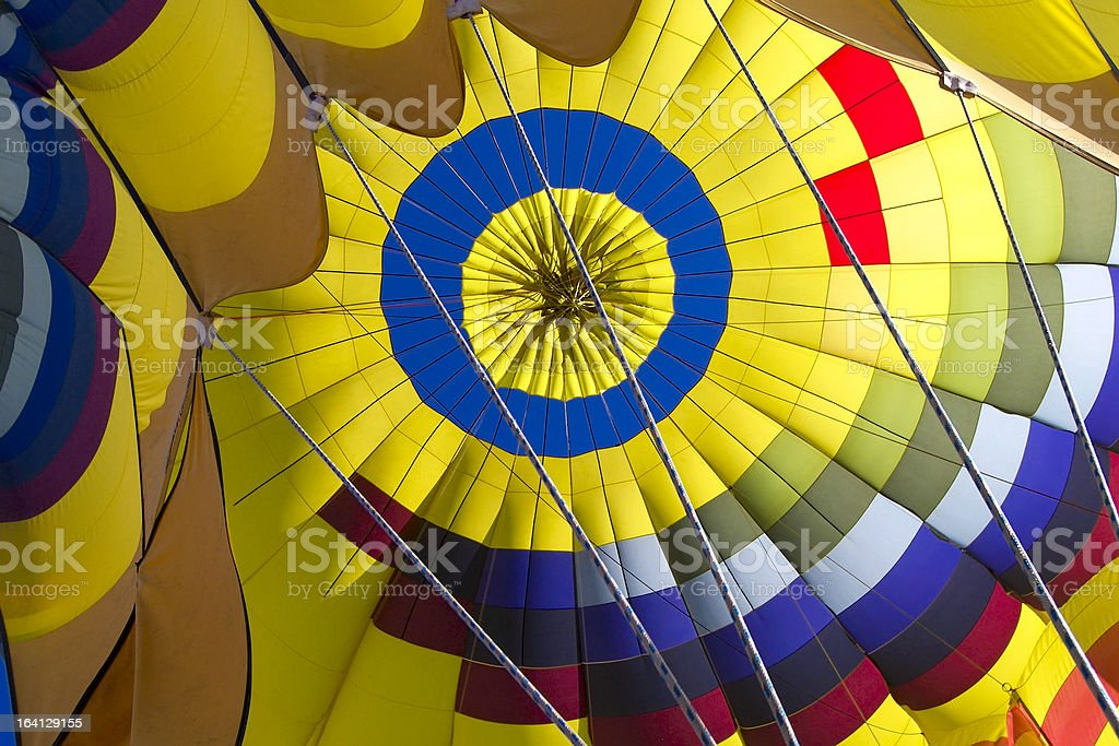 Inside a Hot Air Balloon royalty-free stock photo