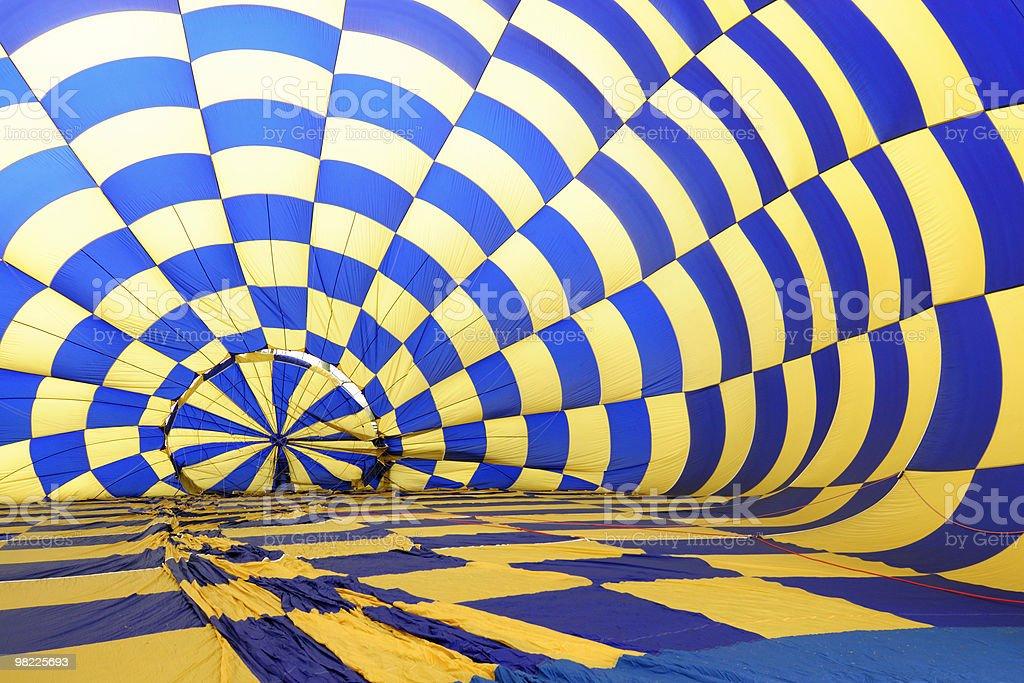 Inside a hot air balloon royalty-free stock photo