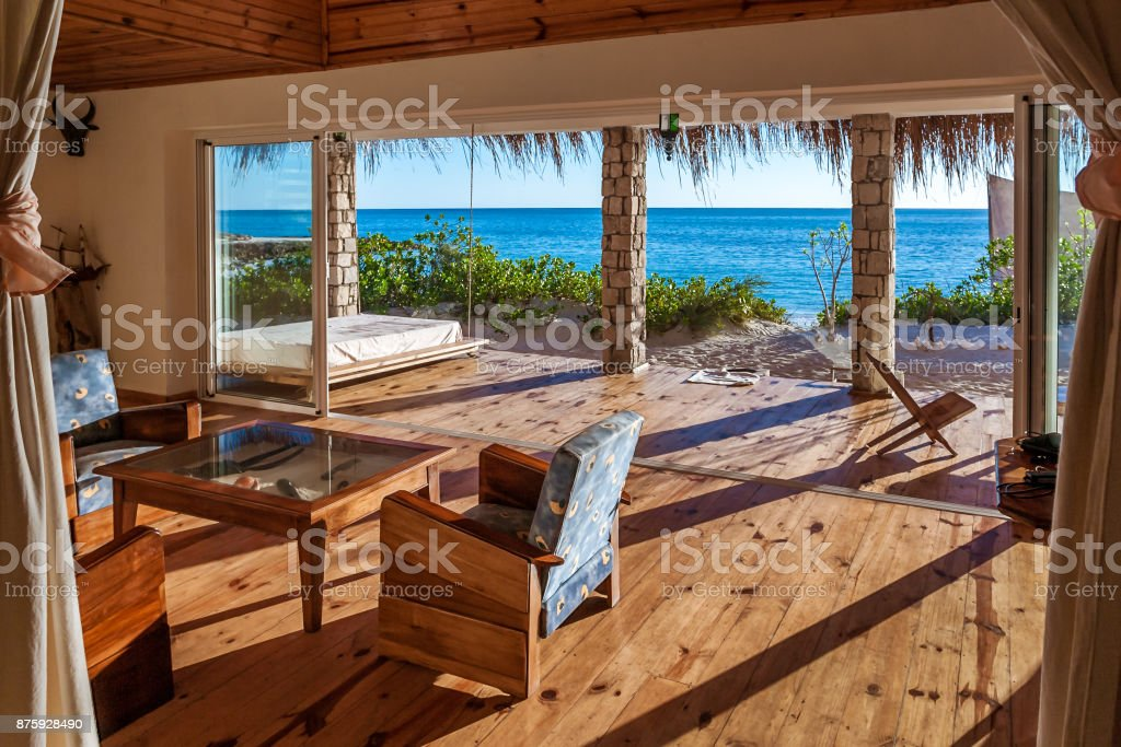 Inside a luxurious suite stock photo