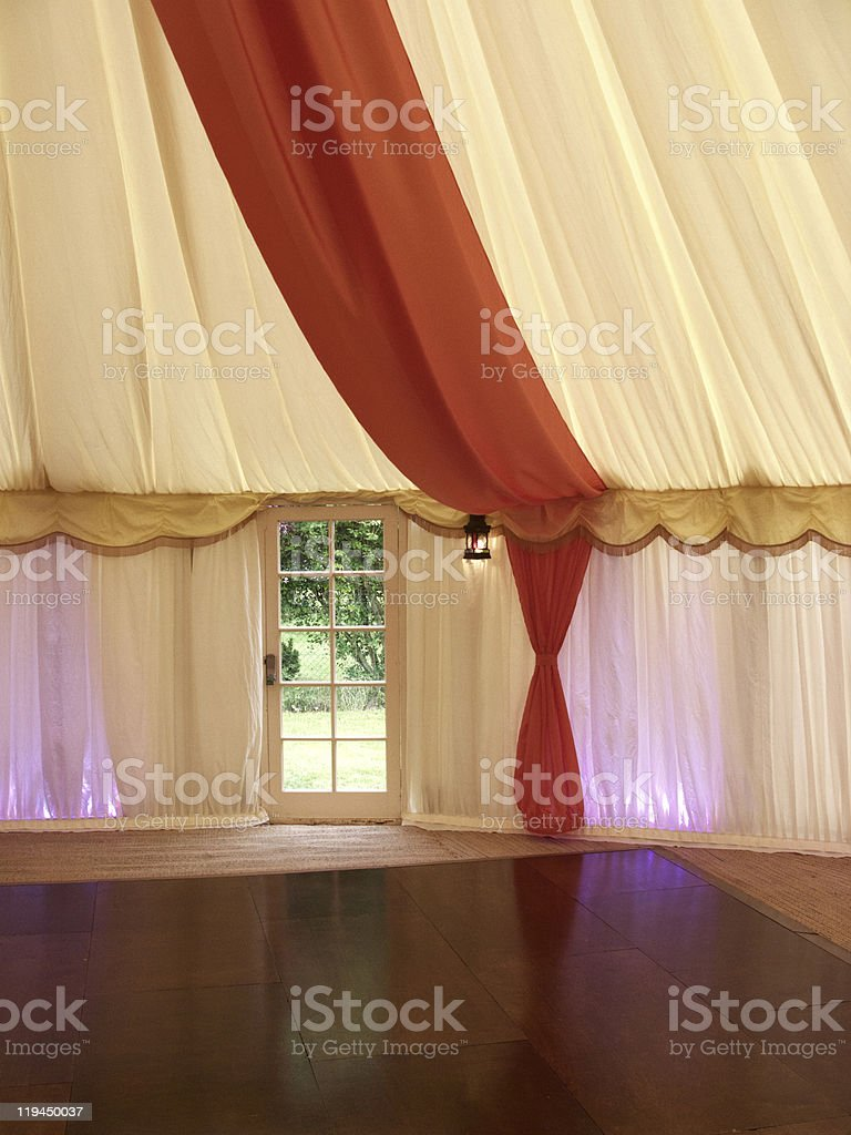 inside a marquee royalty-free stock photo