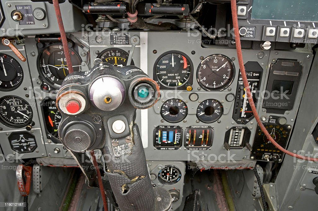 Inside A Mig29s Cockpit Stock Photo - Download Image Now - iStock