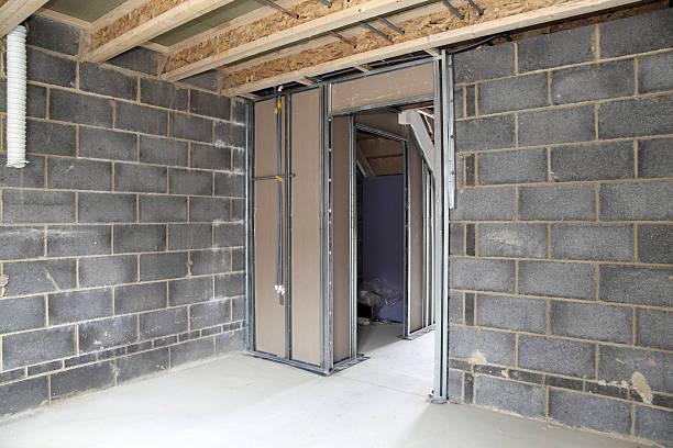 inside a new uk house stock photo