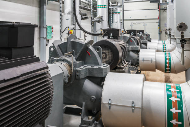 inside a power plant - cogeneration plant stock photos and pictures