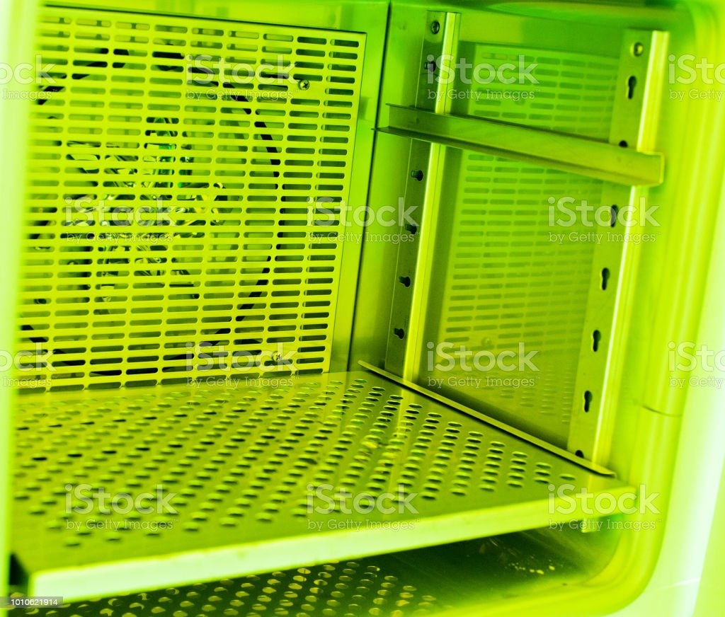Inside A Semiconductor Wafer Oven Chamber In Photolithography Room Royalty Free Stock Photo