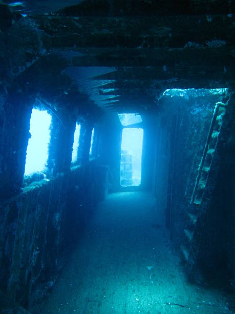 inside a shipwreck - wreck diving stock pictures, royalty-free photos & images