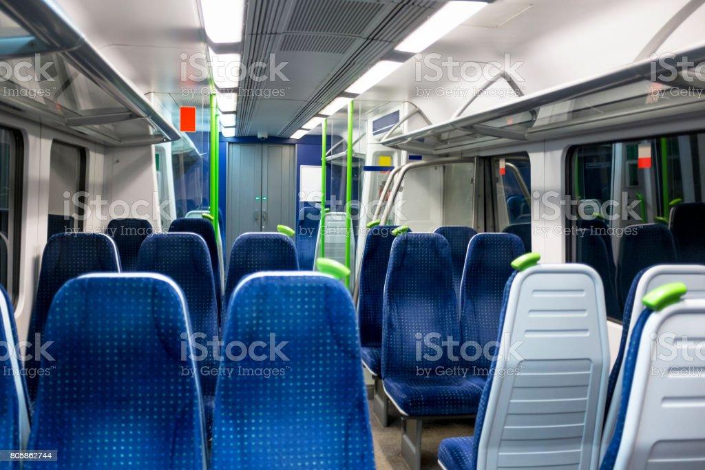 Inside A Train Cabin In London stock photo