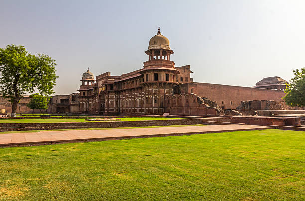 Inside Agra Fort in Agra India stock photo
