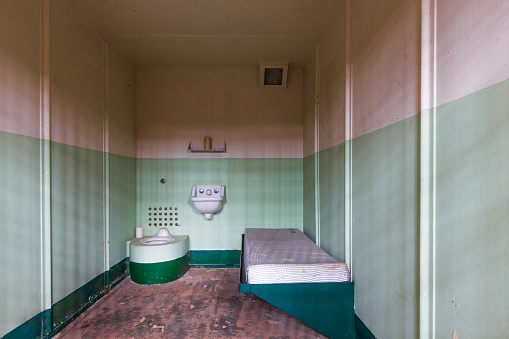 Inside Alcatraz Island prison in San Fransico CA