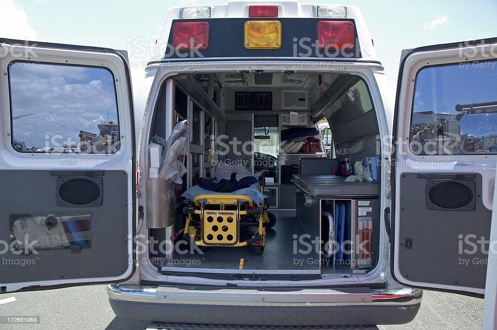 Inside An Ambulance stock photo