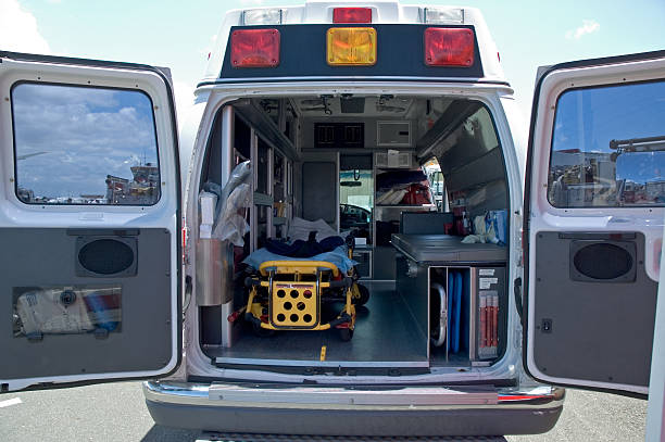 inside an ambulance - emergency response stock pictures, royalty-free photos & images