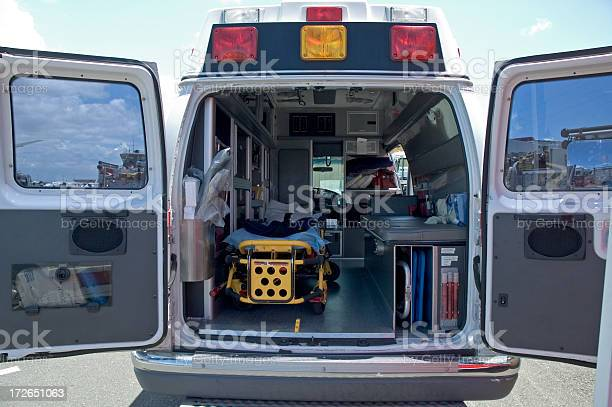 Inside An Ambulance Stock Photo - Download Image Now