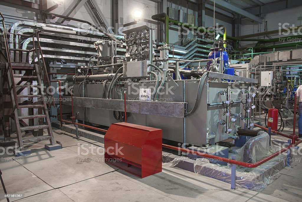 Inside an electric power station stock photo