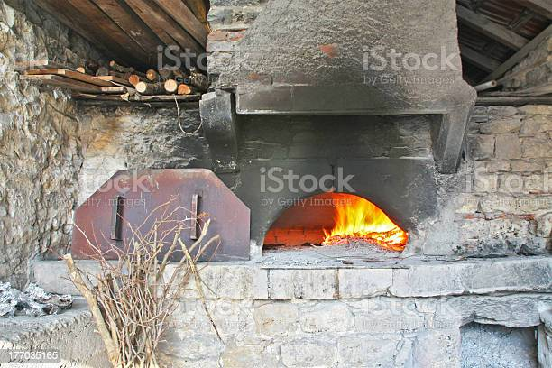 Inside an old bread oven of 1946