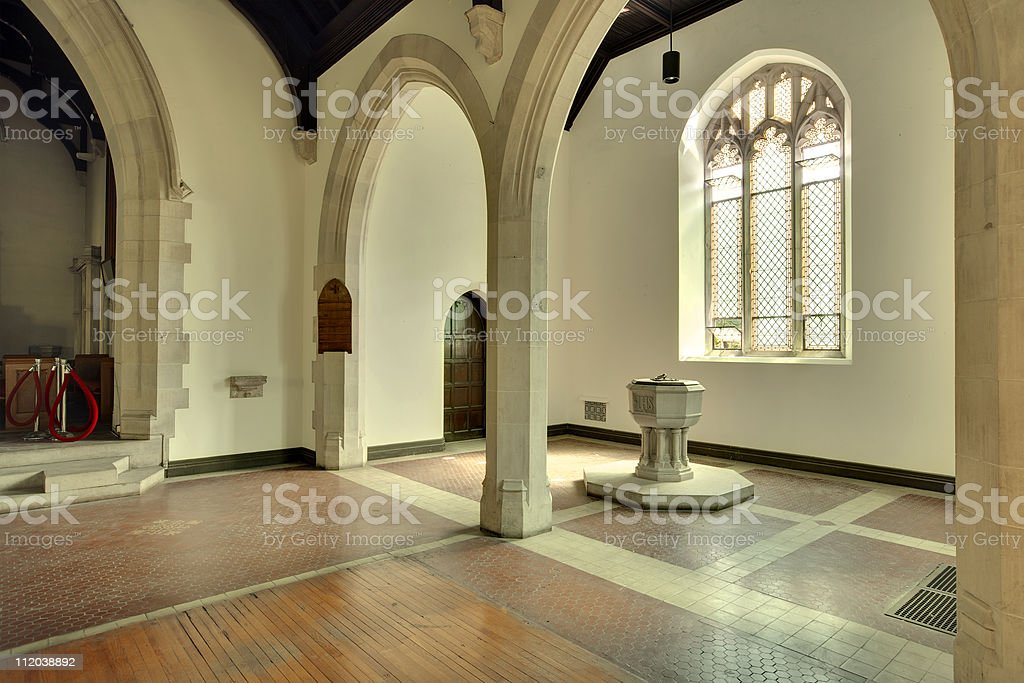 Inside an old Church, Governors Island royalty-free stock photo
