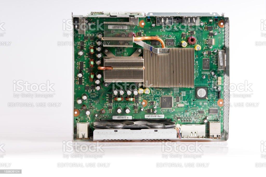 Inside an Xbox 360 stock photo