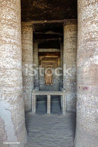Tombs, Egypt, Inside, Columns, Vertical, Asuán