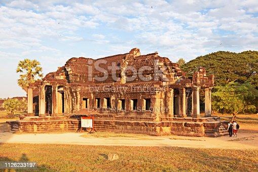 istock Inside Angkor Wat temple area 1126233197