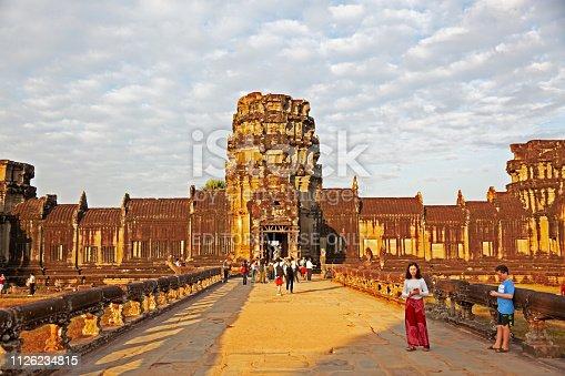 istock Inside Angkor Wat temple area 1126234815