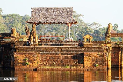 istock Inside Angkor Wat temple area 1126235101