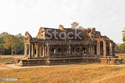 istock Inside Angkor Wat temple area 1126235309