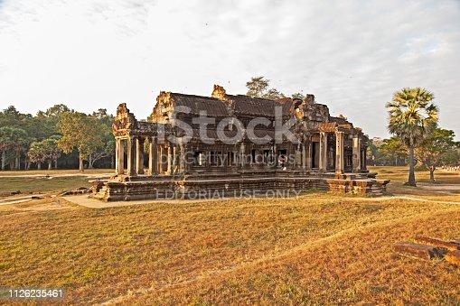istock Inside Angkor Wat temple area 1126235461