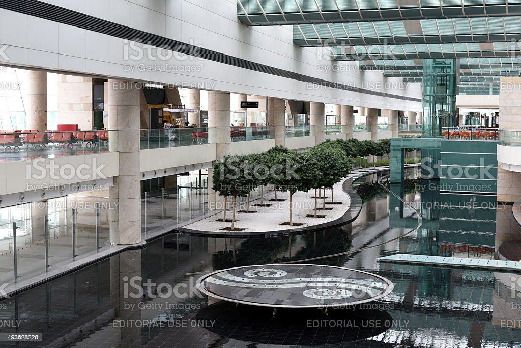 Inside Architecture of Ankara Esenboga Airport stock photo