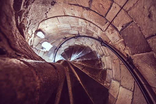 Inside Arundel Spiral Staircase
