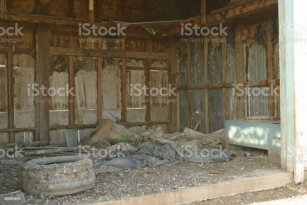 Inside Barn royalty-free stock photo