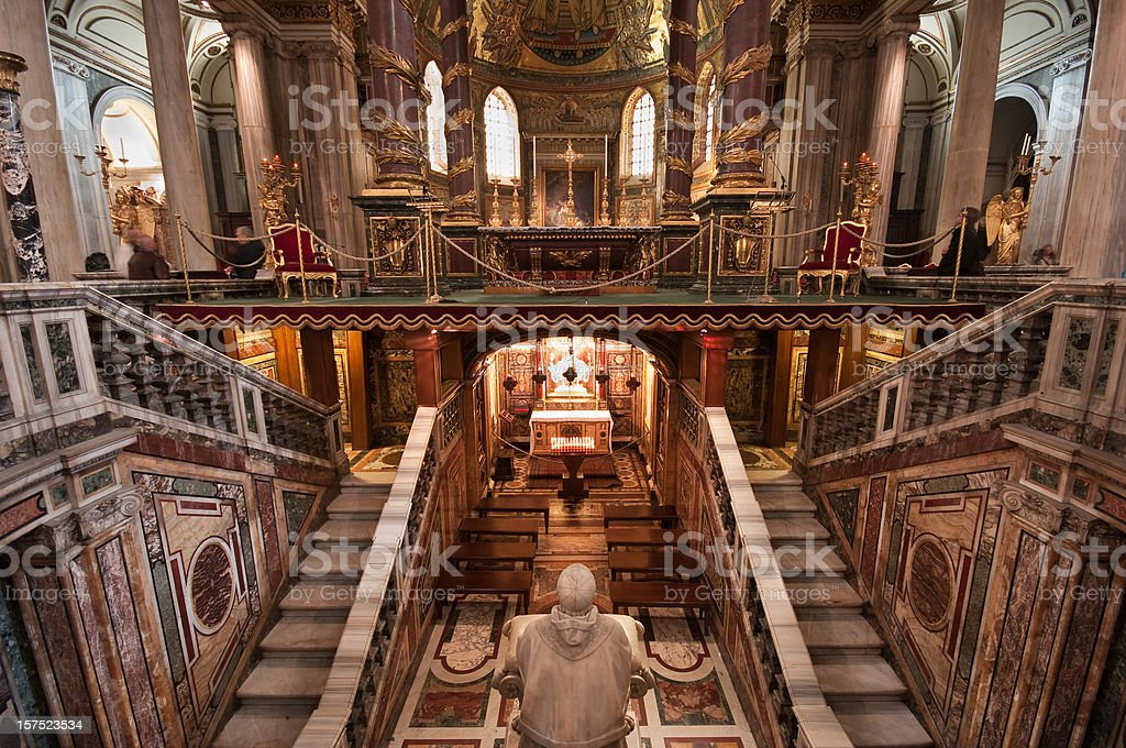 Inside Basilica di Santa Maria Maggiore royalty-free stock photo