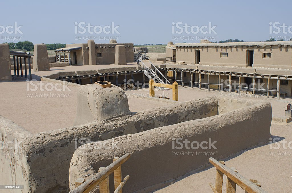 Inside Bent's Old Fort National Historic Site royalty-free stock photo