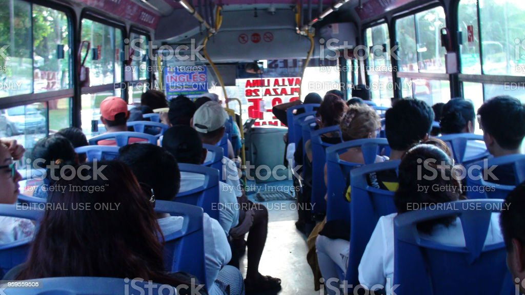 Inside Cancun Public Transportation Bus Mexico Stock Photo Download Image Now Istock