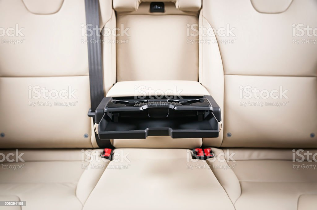 Inside Car Cup Holder. stock photo